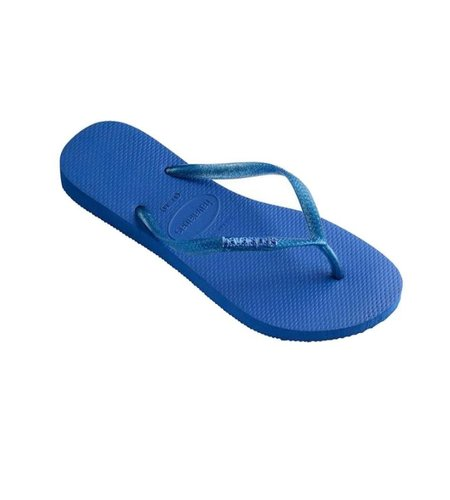 Havaianas Slim Logo Metallic Blue Star