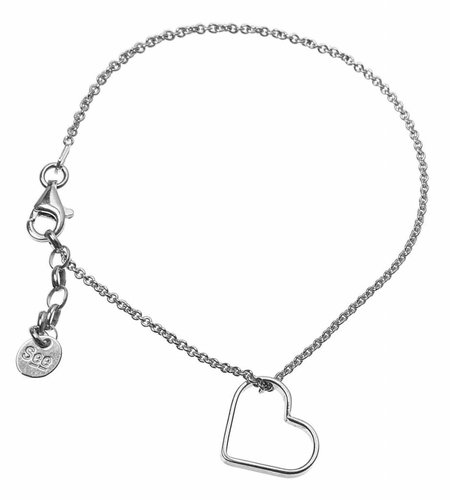 SeeMe Small Heart Bracelet Silver