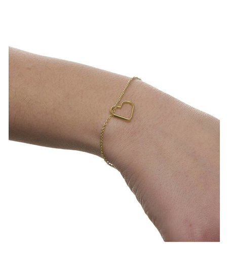 SeeMe Small Heart Bracelet Gold