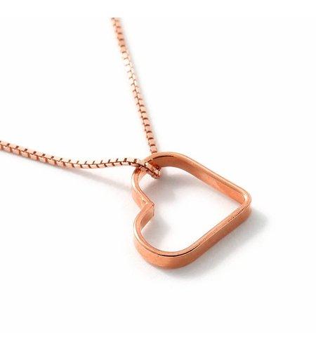 SeeMe Small Heart Short Venetian Chain Rose