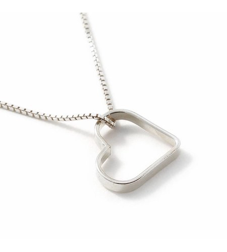SeeMe Small Heart Short Venetian Chain Silver