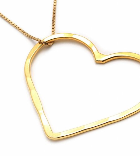 SeeMe Medium Heart Long Venetian Chain Gold