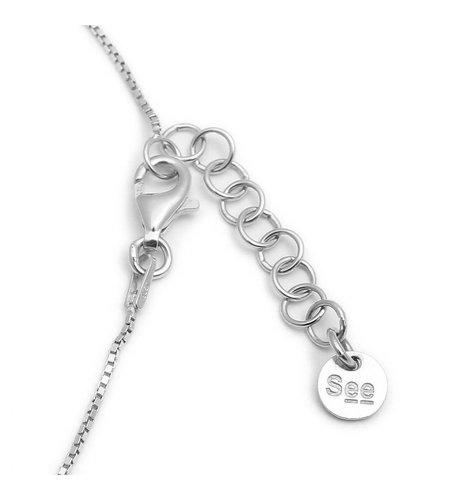 SeeMe Medium Heart Short Venetian Chain Silver