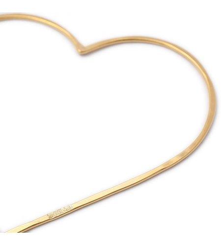 SeeMe Big Heart Long Venetian Chain Gold