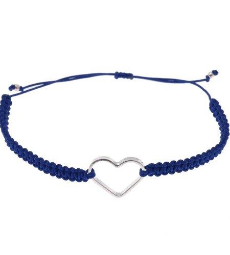 SeeMe Macrame Bracelet Small Heart Dark Blue