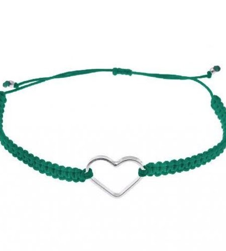 SeeMe Macrame Bracelet Small Heart Aqua