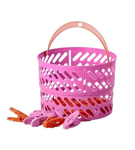 Rice Wasknijpermandje Roze