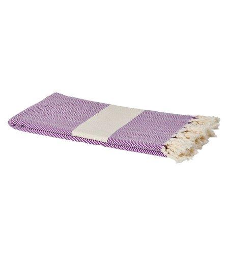 Rice Geweven Hamam Handdoek Paars