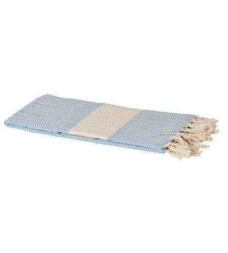 Rice Geweven Hamam Handdoek Baby Blauw