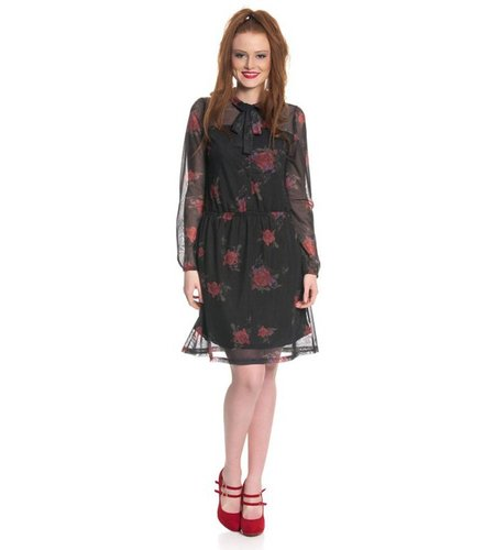 Vive Maria Tender Rose Dress Black Allover