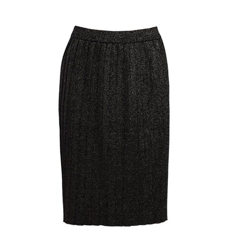 King Louie Skirt Plisse Lapis Glam Black