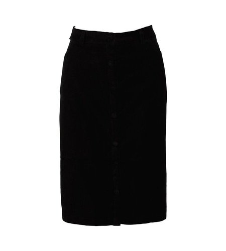 King Louie Angie Skirt Uni Velvet Black