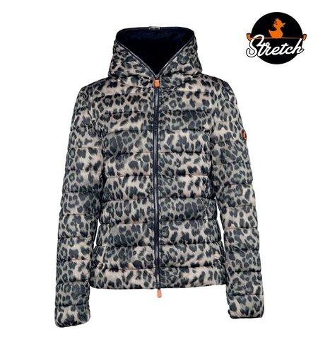 Save the Duck Giubotto Cappuccio Mell 5 Medio Leopard