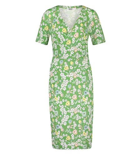 IEZ! Dress Wrap Jersey Prints Green