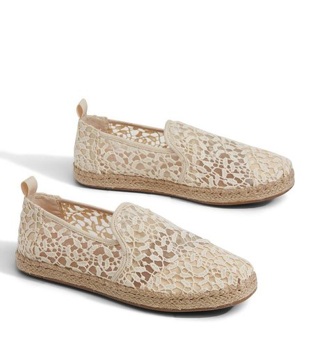 TOMS Alpargata Lace Leaves Rope Natural