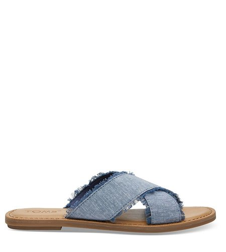 TOMS Viv Slub Chambray Blue