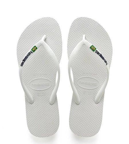 Havaianas Slim Brasil Logo White