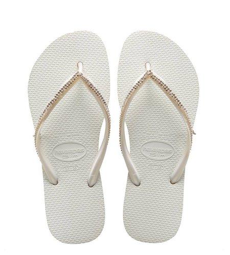 Havaianas Slim Crystal Mesh Swarovski White