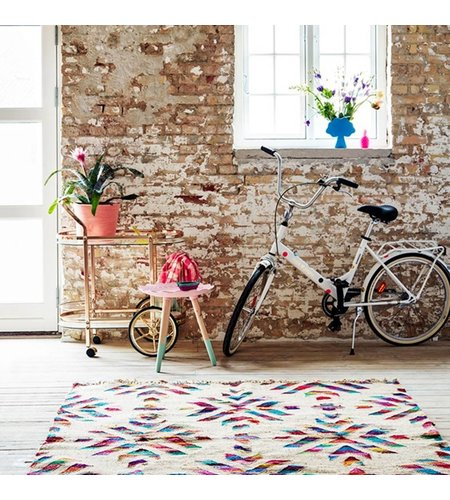 Rice JOPO Adult Bicycle White With Multicolored Dots