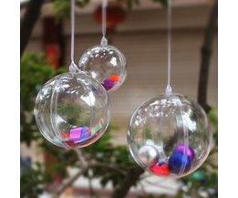 Plastic Kerstballen om te Vullen 5Stuks