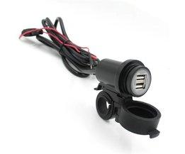 Dubbele USB Lader Voor Motor