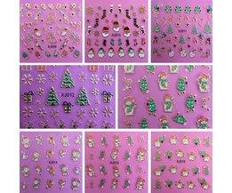 Nail Art Stickers voor Kerst
