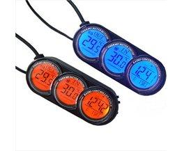 Digitale Autoklok met Thermometer