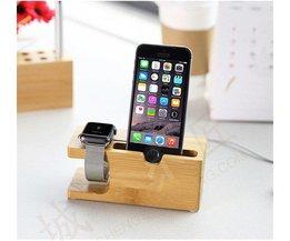Houten Docking Station Voor Apple Watch & iPhone