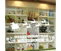 Merry Christmas Raamsticker van PVC