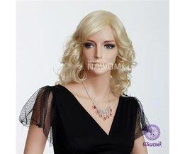 NAWOMI Blonde Pruik Met Krullend Haar