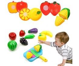 Speelgoed Fruit met Plank en Mes