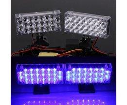 Blauwe LED Flitslamp voor auto's