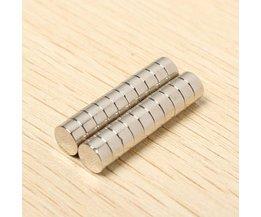 Ronde Magneetjes 6x3mm 20Stuks