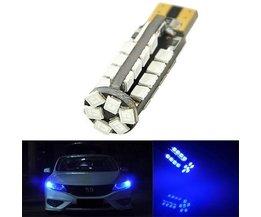 T10 W5W LED Autolamp 38-SMD 2835 194 501 Blauw