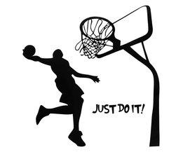 Muursticker met Basketbal