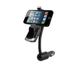 BT8118 MP3 FM Transmitter Auto met BT Smartphone Houder