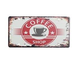Koffiehuis Decoratiebord