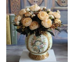 Prachtig Kleurrijk Boeket van Zijde Kunstbloemen