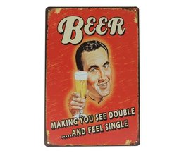 "Tinnen Borden ""Beer"""