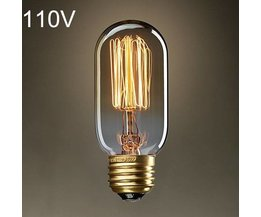 Retro Edison Gloeilamp E27 40W AC 110V T45