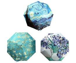 Bedrukte Paraplu met Olieverfprint