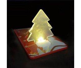 LED Kerstkaart met Opvouwbare Kerstboom