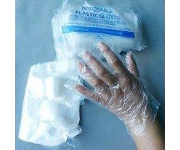 Wegwerp Handschoenen van Transparant Plastic 30 Stuks