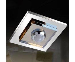 LED Plafonniere RVS