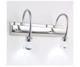 LED Wandlamp 3W/6W 85-265V in Kristal en Staal