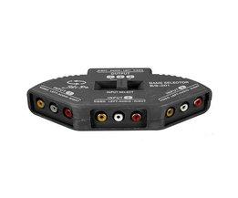 3 Way Audio Video Box Splitter