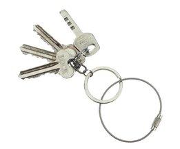 Sleutelring Kabel Met Schroefslot
