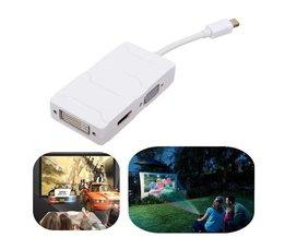 3 in 1 Mini Displayport naar HDMI VGA DVI Omzetter