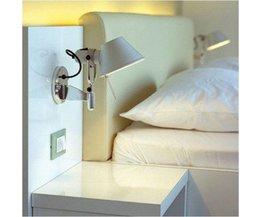 Makkelijk Verstelbare Aluminium Muurlamp met Schakelaar