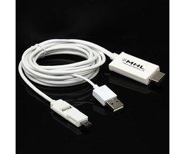 Micro USB naar HDMI Kabel 2,5m